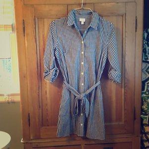 Vineyard Vines x Target Gingham Shirt Dress, sz M